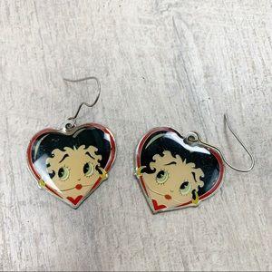 Betty Boop Vintage Earrings Jewelry C3461